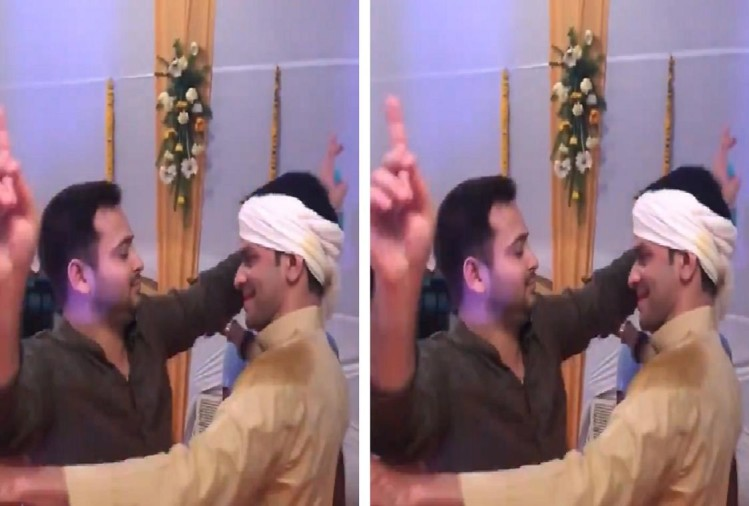 tejashwi yadav and tej pratap yadav danced on dj song, see in video