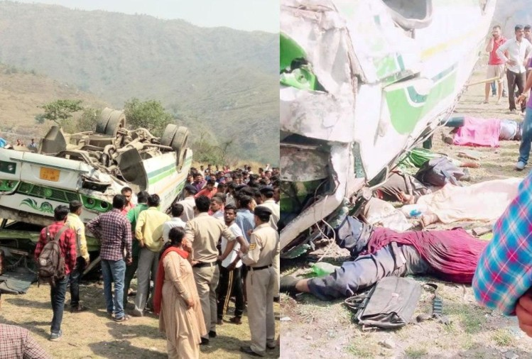 8 killed as Private Bus Fell Into Gorge Sanora In Sirmour