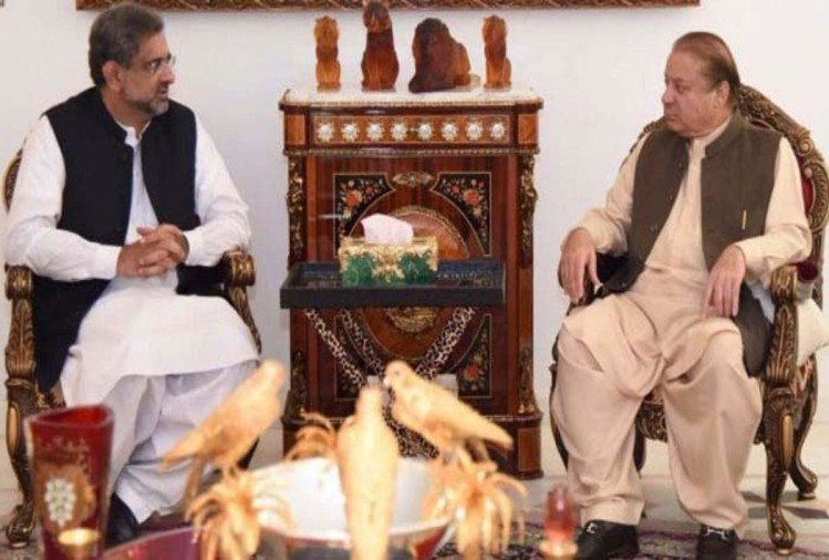 After NSC meeting on nawaz sharif mumbai attack statement Shahid Khaqan Abbasi meets him