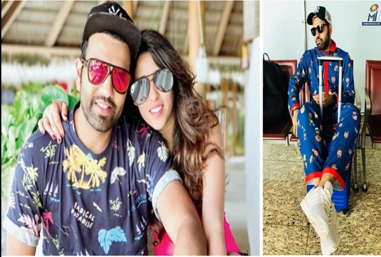 When Rohit Sharma gets trolled by wife Ritika after spotted in hilarious emoji uniform of MI
