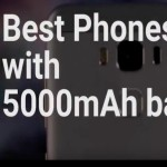 Smartphones with 5000mAh battery