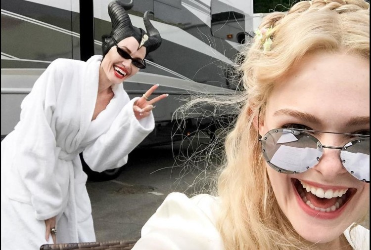 Angelina Jolie has come on Instagram shared her upcoming film Maleficent 2 set photo
