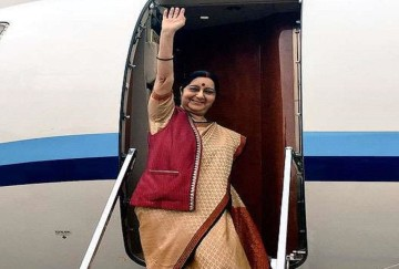 Sushma Swaraj inaugurated the new Indian Embassy complex in Bahrain