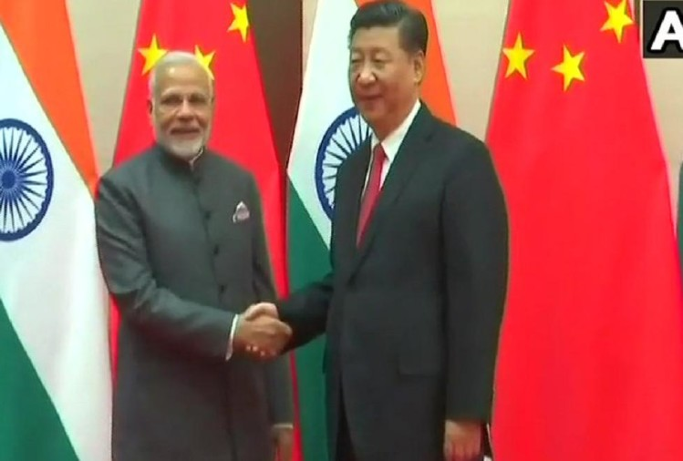 PM Modi met Chinese President Xi Jinping in sco summit