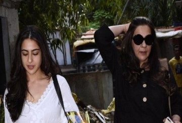amrita singh with sara ali khan
