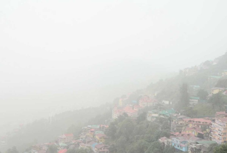 himachal weather report mist in shimla