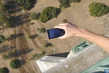 iPhone X dropped from a height of 1,000 feet