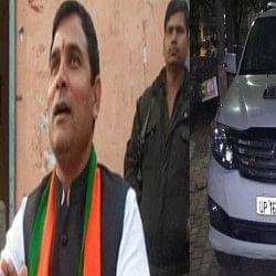 यूपी : भाजपा विधायक पर जानलेवा हमला, हमलावर ने कार पर बरसाईं गोलियां