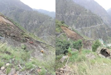 one died and two injured in landslide at hydropower project bhavnagar kinnaur
