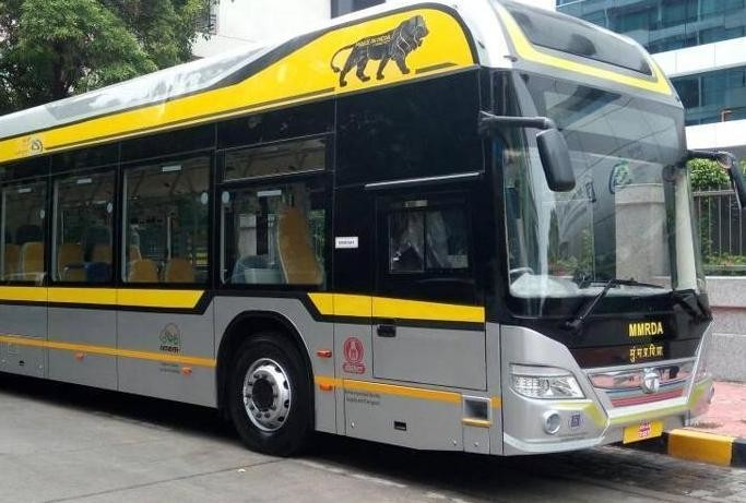 electric buses will run in five cities