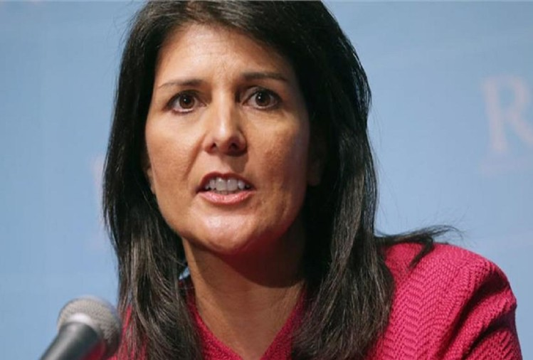 Indian American Republican politician Nikki Haley is campaigning for Trump