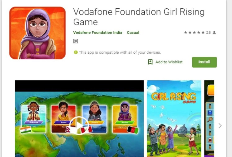 Vodafone Foundation Girl Rising Game