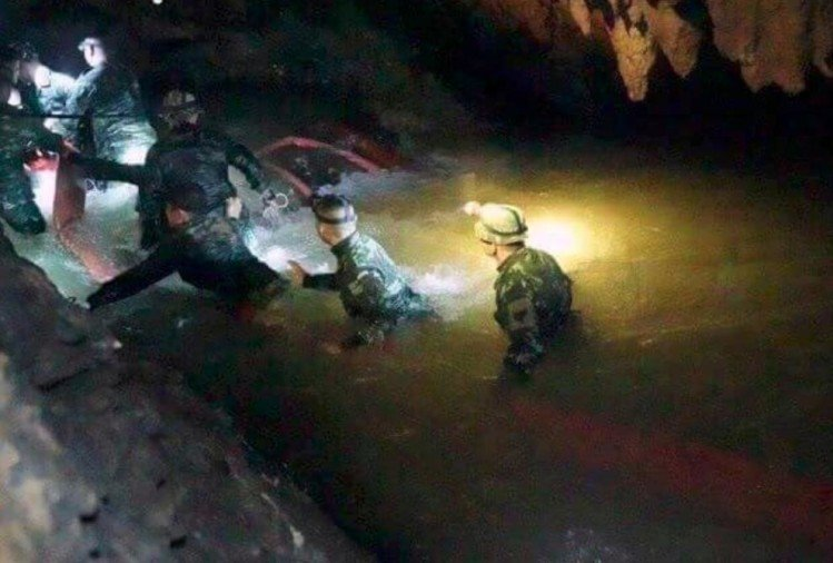 Ninth person rescued from the Thai cave in Thailand