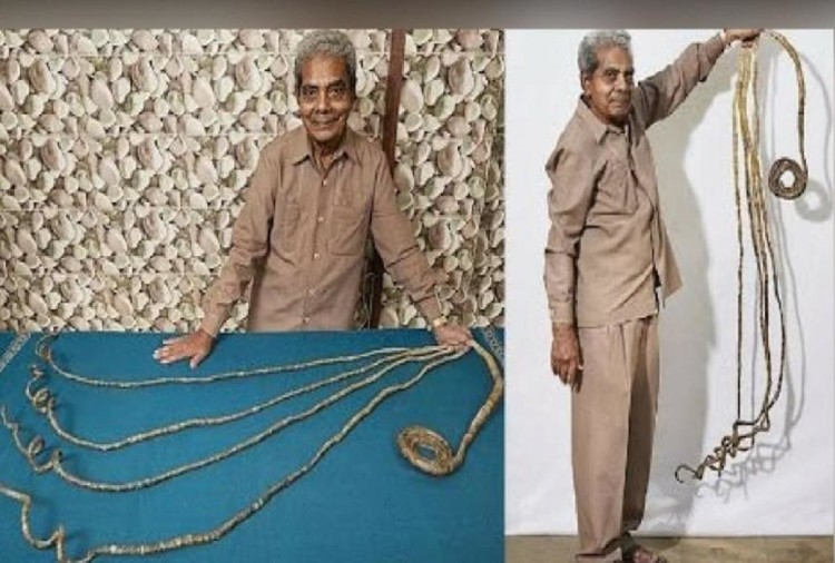 After 66 years, the Indian man agreed to bite his nails