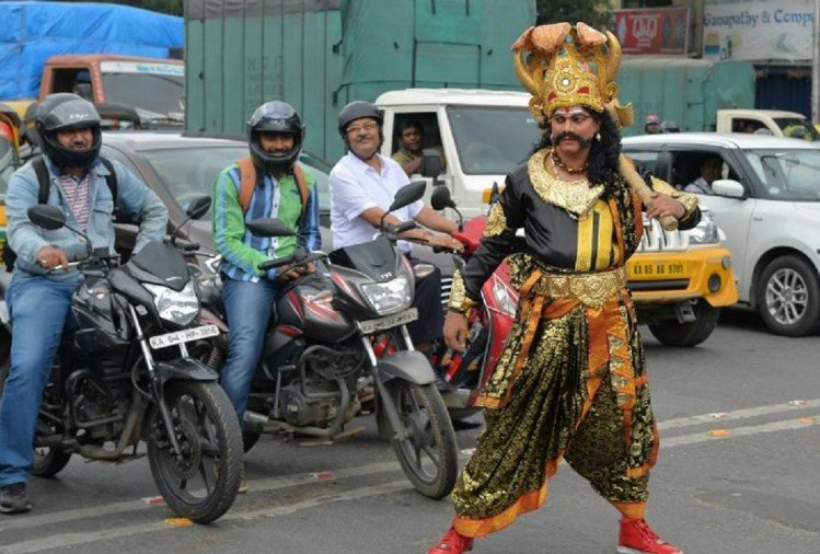 Yamraj on Bengaluru roads