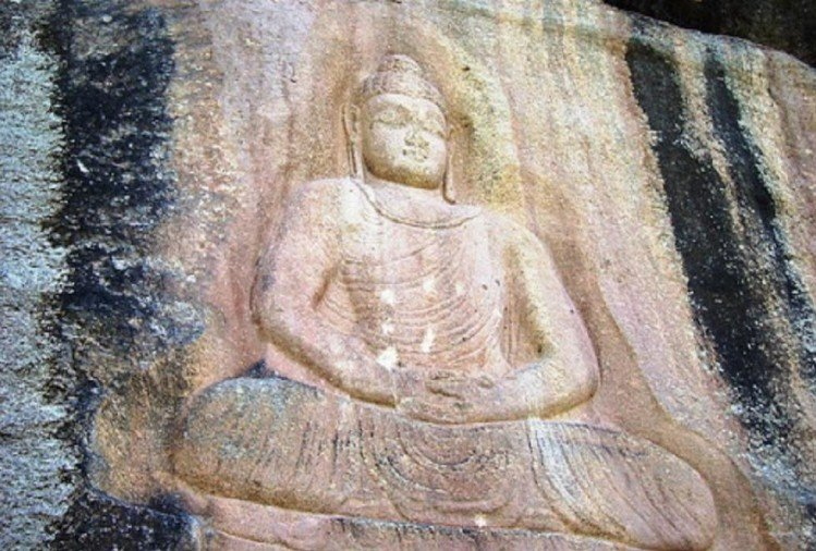 Buddha stands restored after dynamited by Taliban in pakistan swat