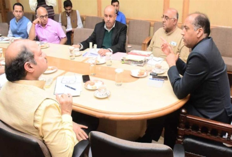 cm jairam thakur presided over meeting of central project in himachal