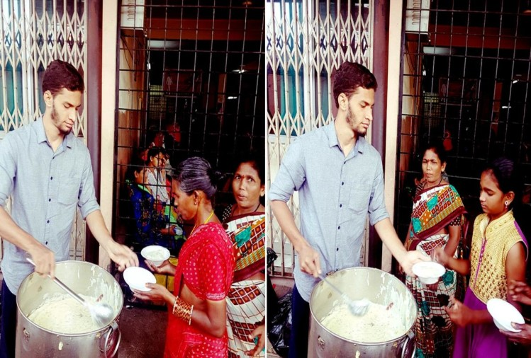 Sujatullah from hyderabad serve food thousand people every day before taking breakfast