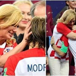 लुका मॉड्रिक ने जीती गोल्डन बॉल, क्रोएशियाई राष्ट्रपति ने गले लगाकर बढ़ाया उत्साह