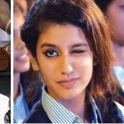 संसद में राहुल गांधी ने मारी आंख, फिर वायरल हुई प्रिया प्रकाश