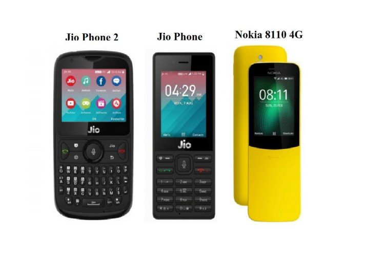 Jio Phone 2 vs Nokia 8110 4G vs Jio Phone