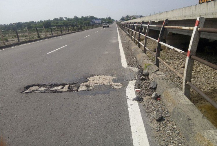 after first rain national highway roads washed off in kathua jammu kashmir