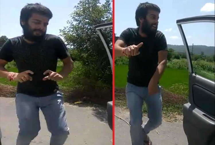 police took two youth in custody doing kiki dance challenge in rajouri jammu kashmir