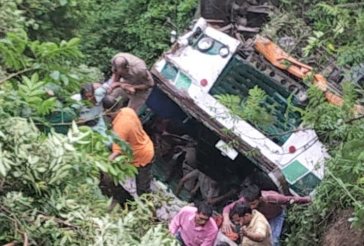 HRTC Bus accident in Una Two Died 35 injured