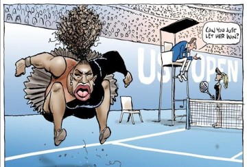 Serena Williams Cartoon, Called Racist, Gets New Life