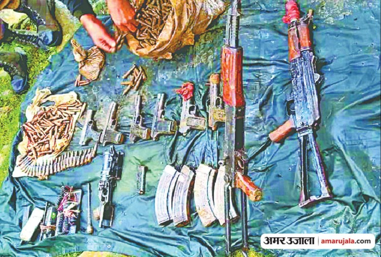 jammu kashmir Security forces exposed militants hideout huge ammunition recovered in Shopian