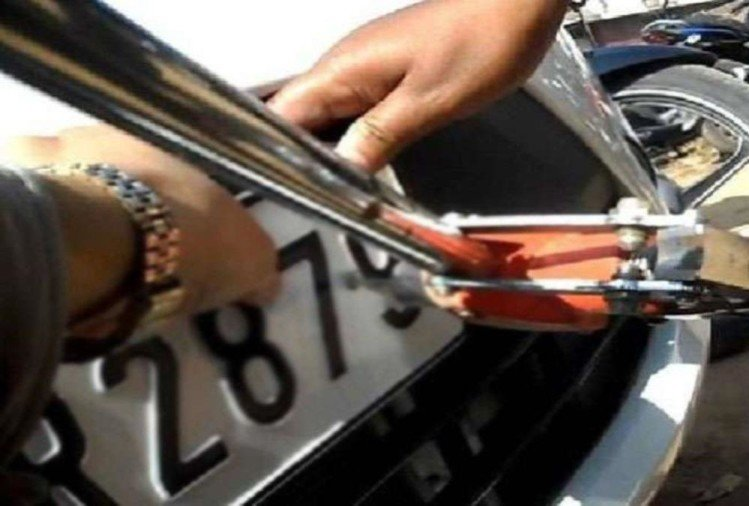 vehicles not having high security number plates after 13 october owner could go jail