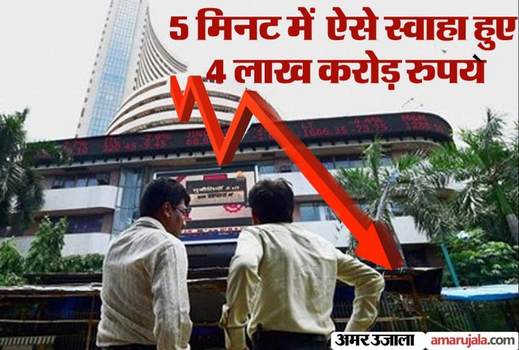Sensex Share Market: black monday in share market, investor lost five lakh crore rupees in two days