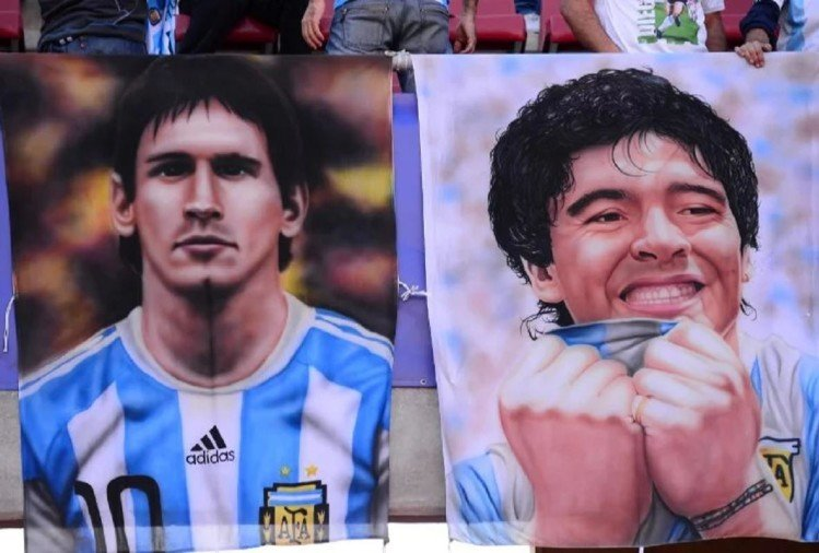 messi and maradona
