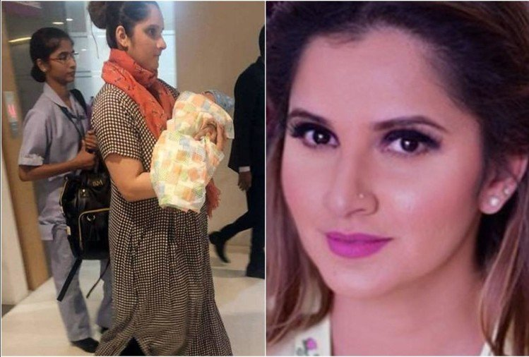 Sania Mirza spotted in hospital with baby boy Izhaan, Photos goes viral