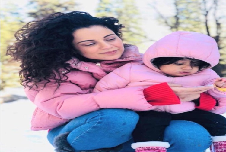 bollywood queen kangana ranaut celebrated diwali in manali