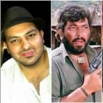 amjad khan with son
