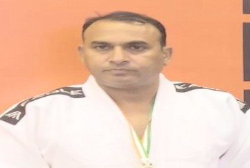 Vipin Chandel won the silver medal in judo