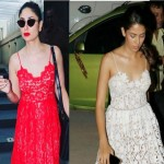 Kareena Kapoor Khan or Mira Rajput who wore this lace dress dress better