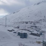 minus temperature in keylong fresh snowfall in rohtang and koksar himachal pradesh