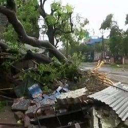 तमिलनाडु के तट से टकराया 'गाजा', कई इलाकों में भूस्खलन, अगले छह घंटे में कमजोर पड़ सकता है तूफान