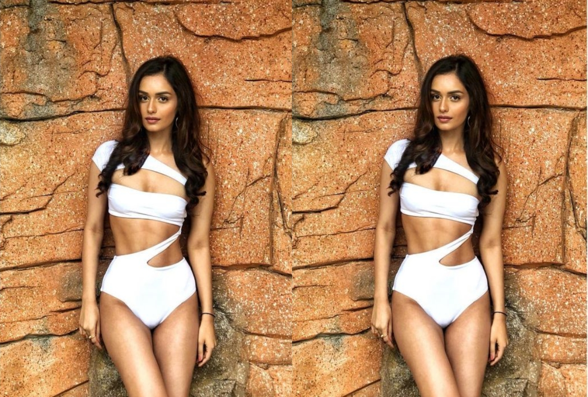 Manushi Chillar Looks Gorgeous In White Bikini