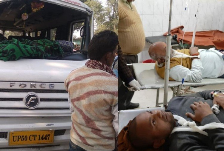 many injured in an accident in ambedkarnagar.