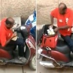 Zomato Delivery Boy eating food