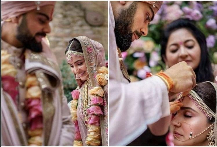 Anushka Sharma Shared Wedding Video On Her First Anniversary With Virat Kohli - विराट ने इस तरह भरा था अनुष्का की मांग में सिंदूर, लिए थे 7 फेरे, एक साल बाद सामने
