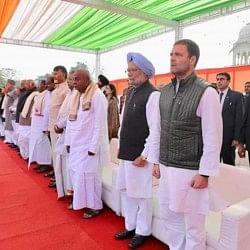 गहलोत के शपथ ग्रहण में दिखी विपक्ष की एकजुटता, राहुल बने एकता की धुरी