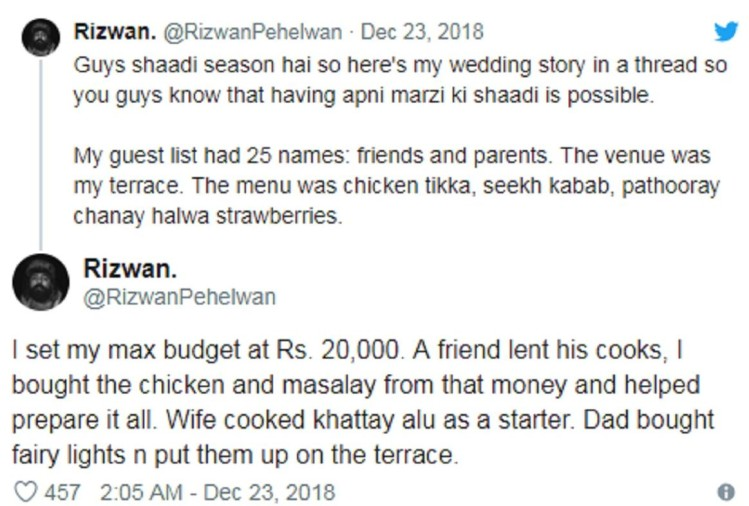 low budget wedding goes viral in pakistan man spent on own wedding