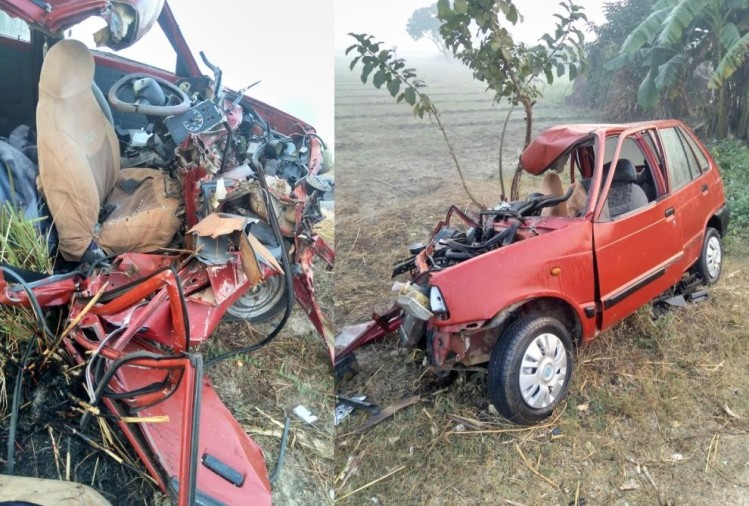 two died in an accident in bahraich.