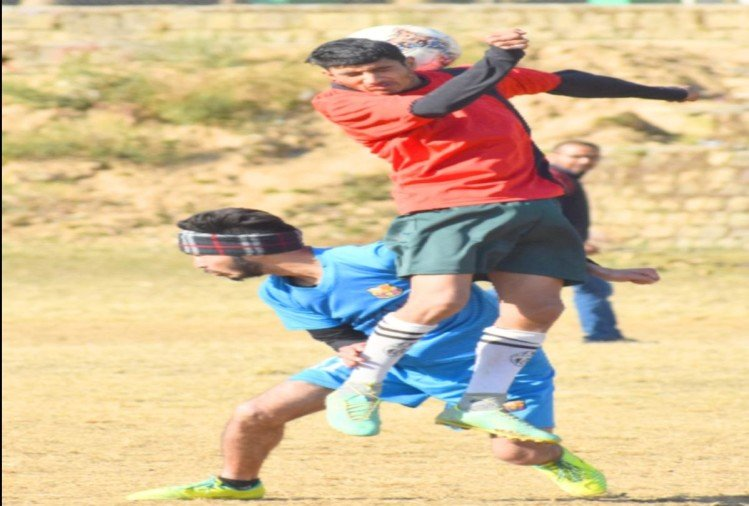 Sai won the Football Trophy by defeating Indrunag A in Dharamsala