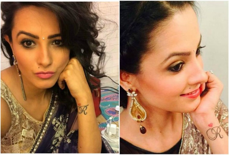 Anita Hasanandani has also got a tattoo of the letter 'R' on her wrist.