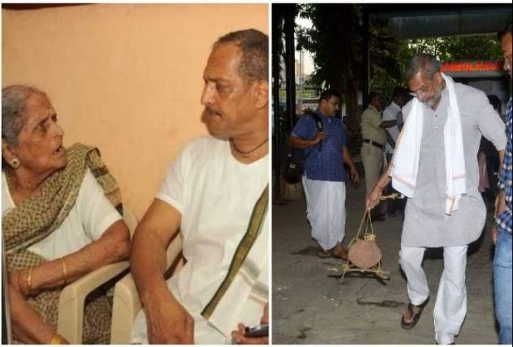nana patekar mother nirmala patekar died, no one reached there from bollywood- back to bollywood